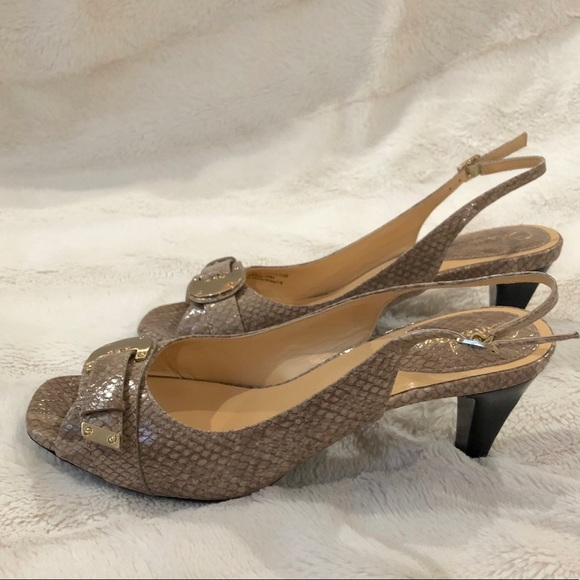 19bd2a6e6bc NWT Cole Haan Eliana OT Sling in Natural Snake NWT